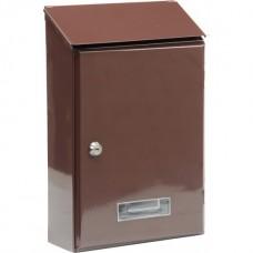 Ящик почтовый 360х230х90мм коричневый