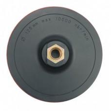 Насадка пластиковая жесткая 125мм М14 под круг на липучке