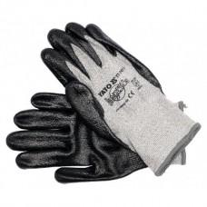 Перчатки рабочие серые (Polister/Nitryl)