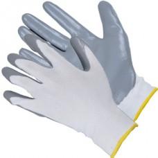 Перчатки из полиэстра с нитриловым покрытием на лодони,13 кл.