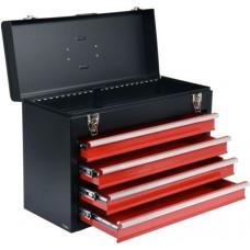 Ящик для инструмента металлический с 4 выдвижными полками