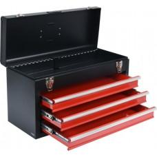 Ящик для инструмента металлический с 3 выдвижными полками