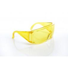 Очки защитные открытые поликарбонатные желтые тип