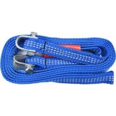 Трос ленточный буксировочный плетеный синтетический в комплекте с петлями (2500кг)
