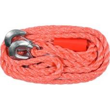 Трос буксировочный плетеный пропиленовый в комплекте с крюками (3500кг)