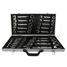 Ключи рожково-накидные с трещоткой 6-32мм (набор 22пр.)