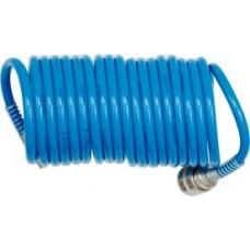 Шланг спиральный для воздуха с фитингами 8х12мм 15м (PU)