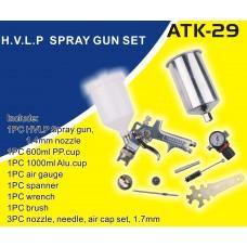 Краскопульт HVLP  1,4мм с принадлежностями (9пр.)
