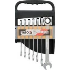 Ключи рожково-накидные с трещоткой (набор 7пр.) CrV