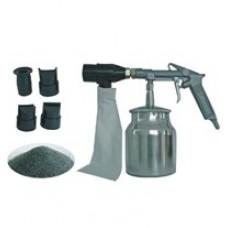 Пескоструйный пистолет с пылесборником + насадки