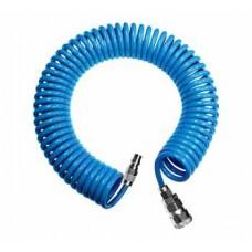 Шланг спиральный для воздуха  8х12мм 15м (PU)