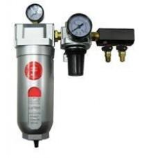 Фильтр одноступенчатой очистки воздуха до 5микрон + редуктор с манометром (3600л/мин, 5микр.)