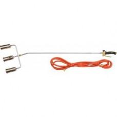 Горелка газовая 1385мм тройная с гибким шлангом 5м