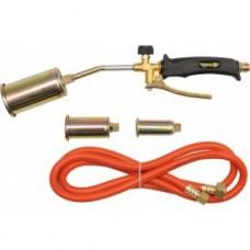 Горелка газовая  360мм с гибким шлангом 2м и 3 насадками