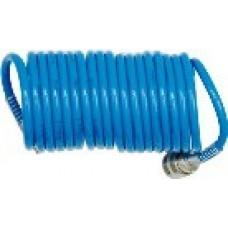 Шланг спиральный для воздуха с фитингами 6,5х10мм 5м (PU)