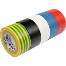 Изолента ПВХ 19мм х 20м х 0,13мм разноцветная (10шт)