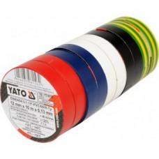Изолента ПВХ 12мм х 10м х 0,13мм разноцветная (10шт)