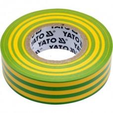 Изолента ПВХ желто-зеленая 19мм х 20м х 0,13мм