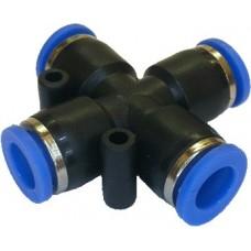 Пневматический фитинг PU/PE тип Х12мм
