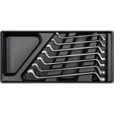 Ключи накидные  6х19мм в футляре (набор 7шт)