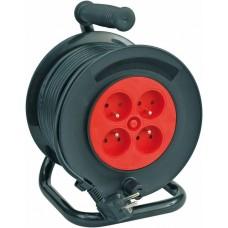 Удлинитель электрический на катушке 40м 4 розетки с предохранителем