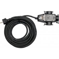 Удлинитель электрический H07RN-F 3G1.5мм., 10м 3 розетки