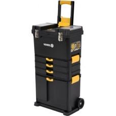 Тележка 3-х сегментная мобильная для перевозки инструмента со съемными ящиками 45х28х82/104см