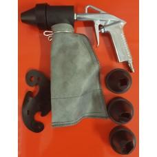 Пескоструйный пистолет с мешком + насадки
