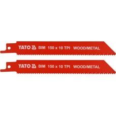 Полотна для сабельной пилы BI-METAL 150мм 10TPI (2шт)