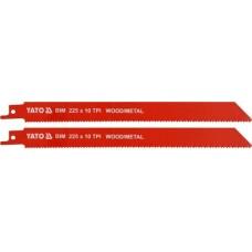 Полотна для сабельной пилы BI-METAL 225мм 10TPI (2шт)