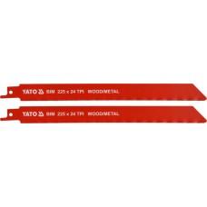 Полотна для сабельной пилы BI-METAL 225мм 24TPI (2шт)