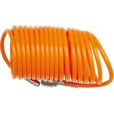 Шланг спиральный для воздуха с фитингами 5х8мм 10м (PU)