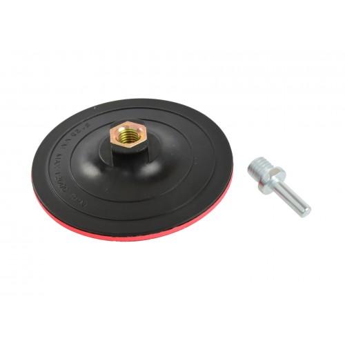 Насадка резиновая шлифовальная 125мм/2мм М14 с липучкой + адаптер