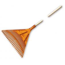 Грабли веерные пластмассовые  510мм. 22 зубца с деревянным черенком