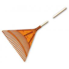 Грабли веерные пластмассовые  610мм. 24 зубцов с деревянным черенком