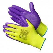 GWARD Hi-Vis Перчатки нейлоновые с нитриловым покрытием  (размер 8 (M))