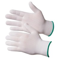 GWARD Touch Перчатки нейлоновые белого цвета без покрытия  (размер 7 (S))