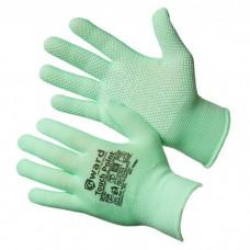 GWARD Touch Point Перчатки нейлоновые с микроточечным покрытием (размер 8 (M) цвет зеленый)