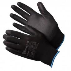 GWARD Black Перчатки нейлоновые черного цвета с полиуретановым покрытием (размер  7 (S))