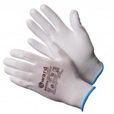 GWARD White Перчатки нейлоновые белого цвета с полиуретановым покрытием  (размер 7 (S))