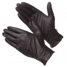 GWARD DELTAGRIP Ultra LS Перчатки нитриловые неопудренные черного цвета (размер  7 (S))