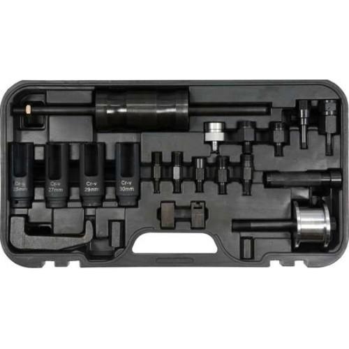 Съемник форсунок с ударным молотком для дизельных двигателей (набор 22пр.)