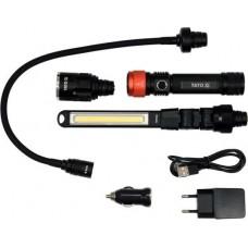 Фонарь светодиодный 3 в 1 (XPG, 2200mAh, USB, IP54)
