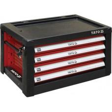 Ящик для инструмента металлический 690х465х400мм с 4 выдвижными полками