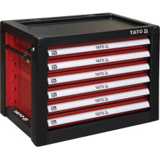 Ящик для инструмента металлический 690х465х535мм с 6 выдвижными полками