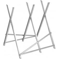 Козлы раскладные металлические для распиловки бревен 920х1020мм мах150кг.